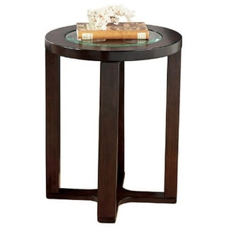 Marion Dark Brown Round End Table T477-6 Marion Dark Brown Round End Table