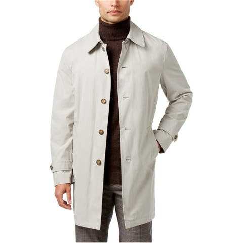 Tommy Hilfiger Mens Finn Raincoat, Grey, 44 Short