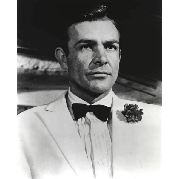 Shop Sean Connery Portrait In White Tuxedo Photo Print Overstock 25472346