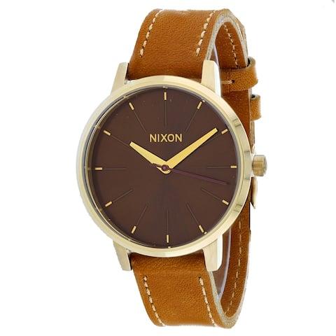 Nixon Women's Kensington Leather Black Watch - A108-2804 - One Size