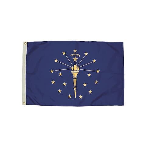 Independence flag 3x5 nylon indiana flag heading & 2132051