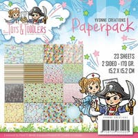 """Yvonne Creations Double-Sided Paper Pack 6""""X6"""" 24/Pkg-Tots & Toddlers, 16 Double-Sided Designs"""