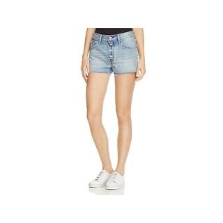 Levi's Womens Denim Shorts Denim Frayed Hem - 26