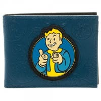 Fallout Vault Boy Men's Bi-Fold Wallet - Blue