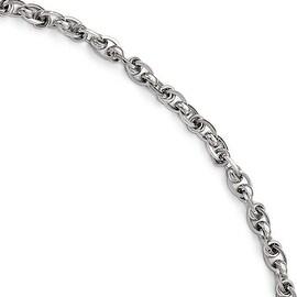 Italian 14k White Gold Polished Bracelet - 7.5 inches
