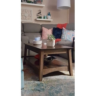 Unfinished Solid Parawood Ay Tall Lift Top Coffee Table