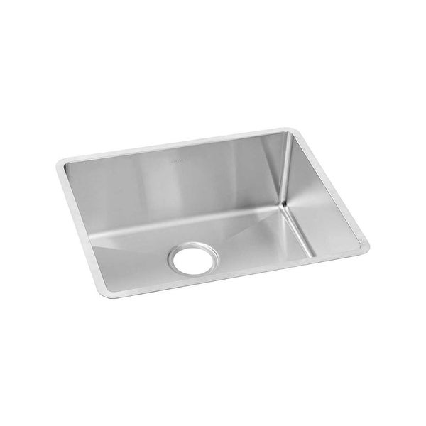 Elkay Ectru21179t Crosstown Undermount Single Basin Stainless Steel Kitchen Sink With Sound Dampening