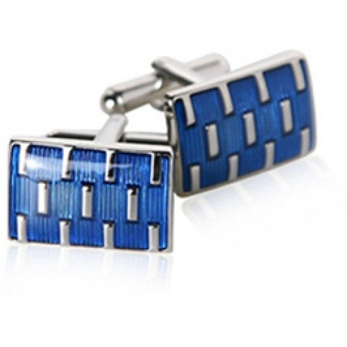 Galvanized Blues Cufflinks