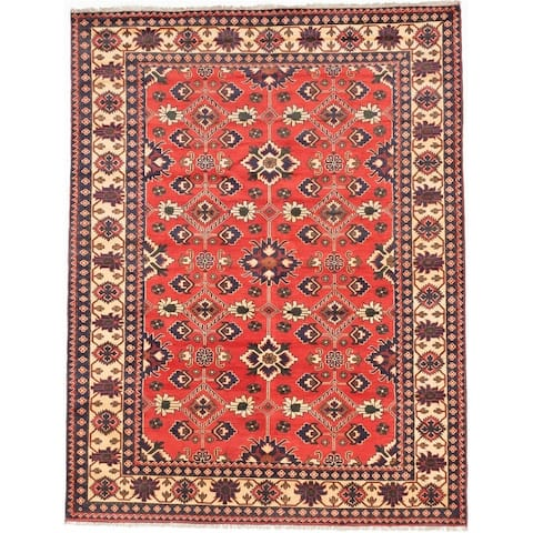 "ECARPETGALLERY Hand-knotted Finest Kargahi Copper Wool Rug - 7'3"" x 9'3"""