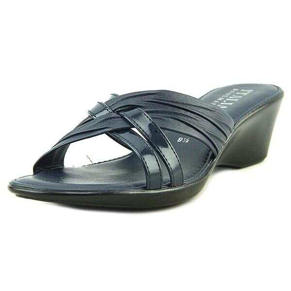 Italian Shoe Makers Florida Navy Sandals