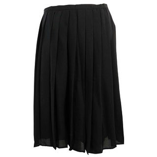 Calvin Klein Women's Large Pleat Skirt - Black