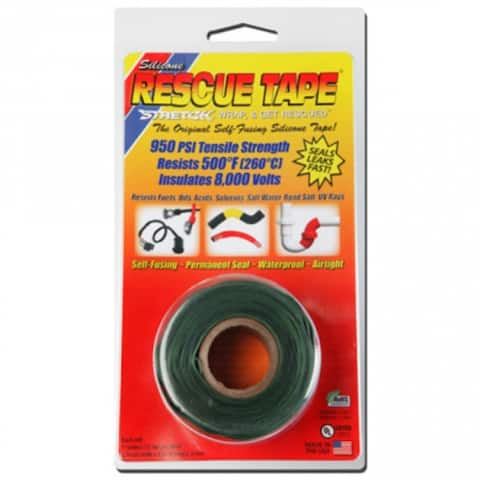 """Rescue Tape RT1000201207USC Self-Fusing Silicone Tape, 1""""x12', Green, 0.30 Thick"""