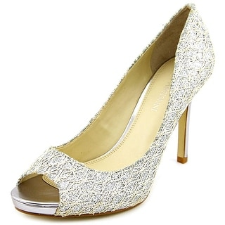 Enzo Angiolini Maiven  Women  Peep-Toe Canvas  Heels