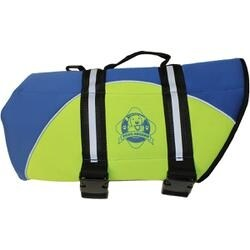 Blue & Yellow - Paws Aboard Neoprene Doggy Life Jacket Medium