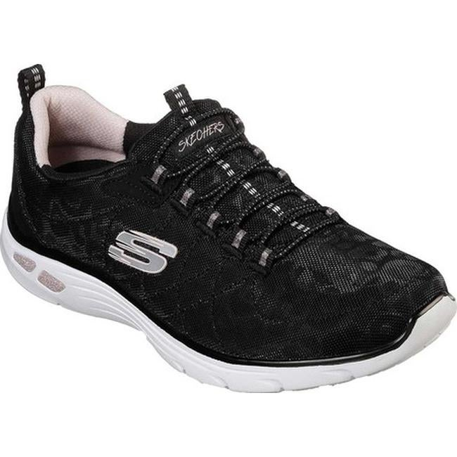 Skechers Women's Relaxed Fit Empire D'Lux Spotted Sneaker BlackRose Gold