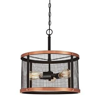 "Westinghouse 6332700 Emmett 3 Light 16-9/16"" Wide Cage Multi Light Pendant"