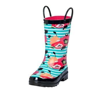 Blazin Roxx Outdoor Boot Girls Sophia Rain Stripes Flowers