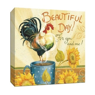 """PTM Images 9-152348  PTM Canvas Collection 12"""" x 12"""" - """"Beautiful Day I"""" Giclee Sayings & Quotes Textual Art Print on Canvas"""