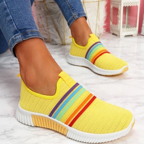 Sneakers Feizhi Colorful Casual Women's Shoes Plus Size