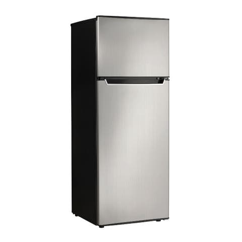 """Danby DPF073C2BSLDB 22"""" Wide 7.3 Cu. Ft. Top Mount Refrigerator with Halogen Lighting - Spotless Steel"""