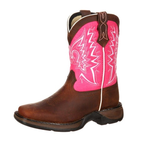 Durango Western Boots Girls Let Love Fly Childrens Brown Pink