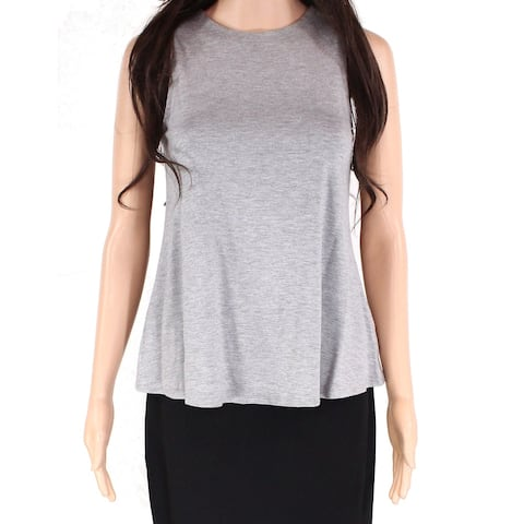 Cupio Women's Light Heather Gray Size XS Tank Top Pullover Solid T-Shirt