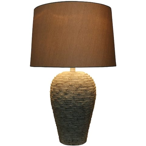 """Crestone Table Lamp, Weathered White, 24 1/2"""" Tall"""