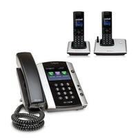 Polycom 2200-48500-025 VVX 501 Corded Business Media Phone System-12 Line PoE w/ 2 VVX D60 Handset