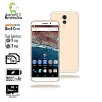 Indigi 4G LTE Unlocked 5.6-inch Android 6.0 SmartPhone w/ QuadCore @ 1.2GHz + Fingerprint Scan) (Gold) + 32gb microSD