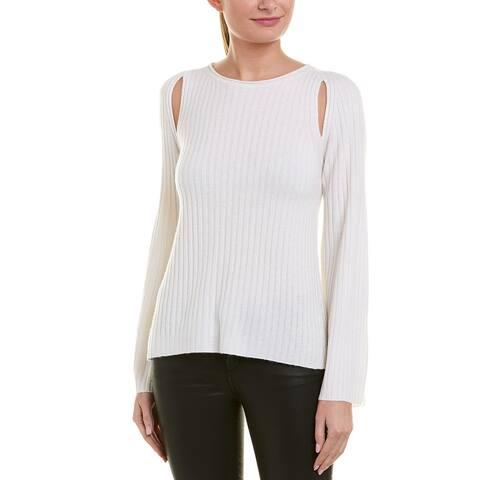 Vince Shoulder Slit Cashmere Sweater