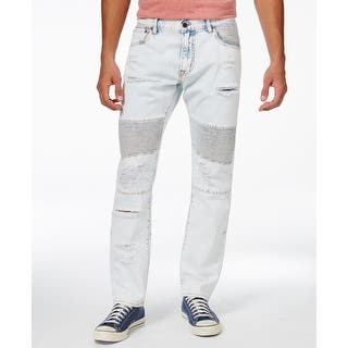 LRG NEW Light Blue Mens Size 38X32 Ripped Denim Moto Tapered-Leg Jeans|https://ak1.ostkcdn.com/images/products/is/images/direct/d6275901aafbbd043edd3396bc8e9ad738d809d4/LRG-NEW-Light-Blue-Mens-Size-38X32-Ripped-Denim-Moto-Tapered-Leg-Jeans.jpg?impolicy=medium