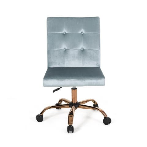 Centennial Glam Tufted Velvet Office Chair by Christopher Knight Home - N/A