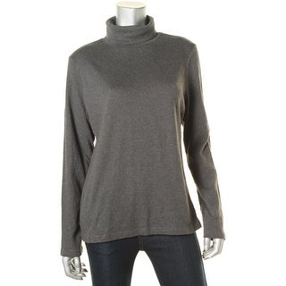 Karen Scott Womens Knit Long Sleeves Pullover Sweater - L