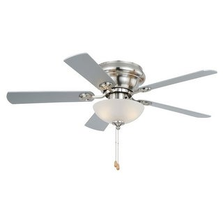 "Vaxcel Lighting F0023 Expo 42"" 5 Blade Indoor Ceiling Fan - Fan Blades and Light Kit Included - Satin Nickel"