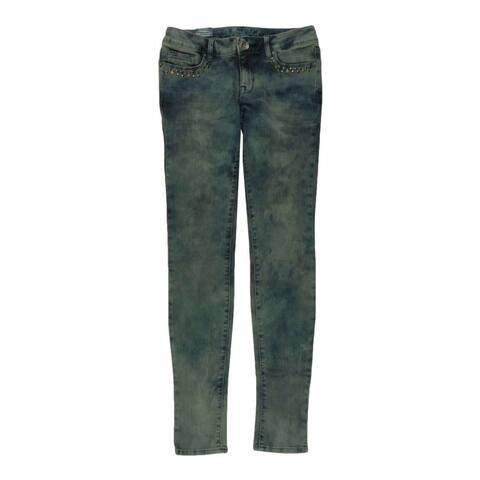 Bullhead Denim Co. Womens Premium Destroy Skinniest Skinny Fit Jeans, Blue, 3/4