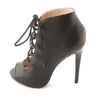 Zigi Soho Women's Martyr Open Toe Lace-Up Heeled Booties