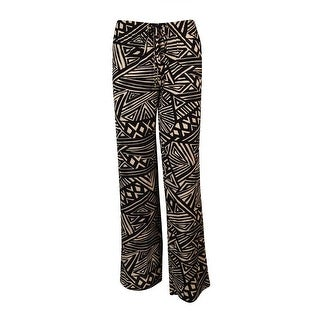 Calvin Klein Women's Print Drawstring Stretch Pants - Black/Khaki (2 options available)