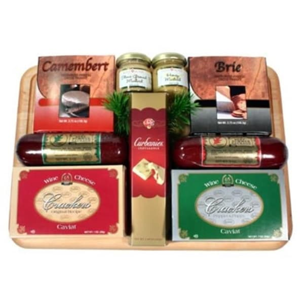 Shop Small Board Of Directors Cheese and Sausage Gift Basket - Free Shipping Today - Overstock - 26344256