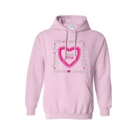 "Unisex Pullover Hoodie ""Think Pink"" Breast Cancer Awareness"