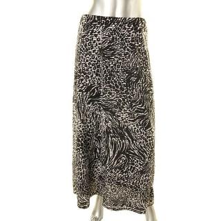 ECI New York Womens Textured Printed Maxi Skirt