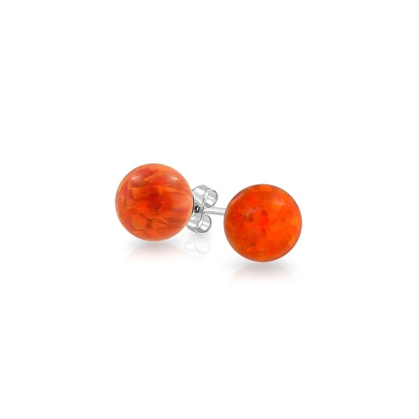 Fine Jewelry Diamonds & Gemstones Responsible Orange Created Opal Real 925 Sterling Silver Sets Flower Pendant And Earrings