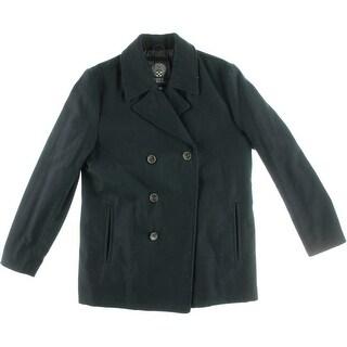 Vince Camuto Mens Wool Long Sleeves Pea Coat - S