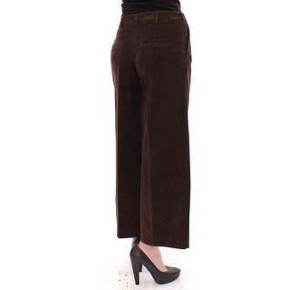 Dolce & Gabbana Brown Cotton Cropped Corduroys Jeans Pants - it40-s
