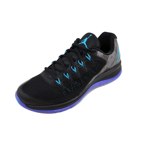 competitive price 54975 c5f3e Nike Men  x27 s Air Jordan Flight Runner 2 Black Blue Lagoon-