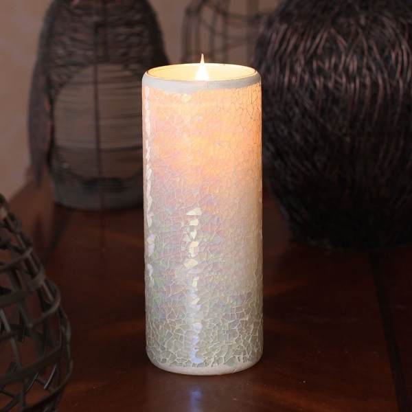 Simplux 3D True Flame Candle - White Mosaic