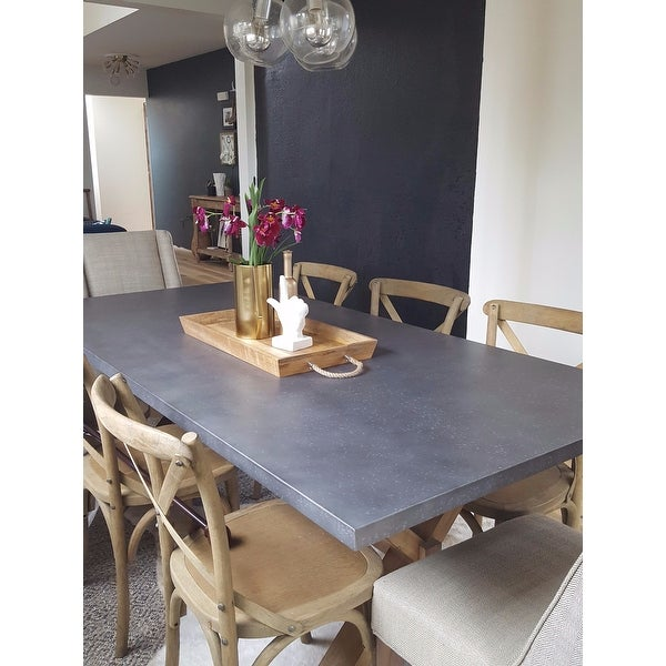 Aberdeen Zinc Top Weathered Oak Trestle Dining Table By Inspire Q Brown On Free Shipping Today 9814768