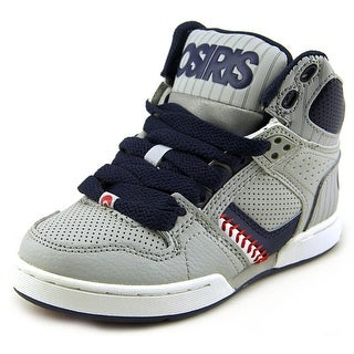 Osiris NYC 83 Youth Round Toe Leather Gray Sneakers