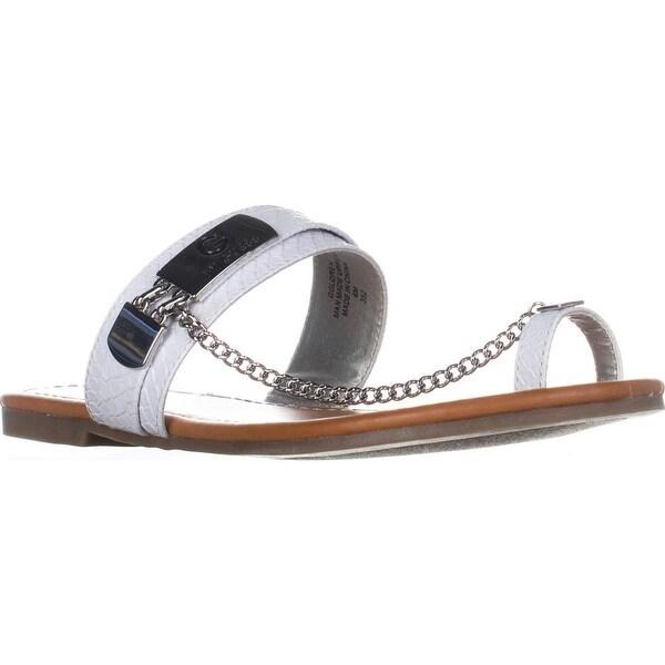 G Guess Loren Flat Toe Loop Sandals, White