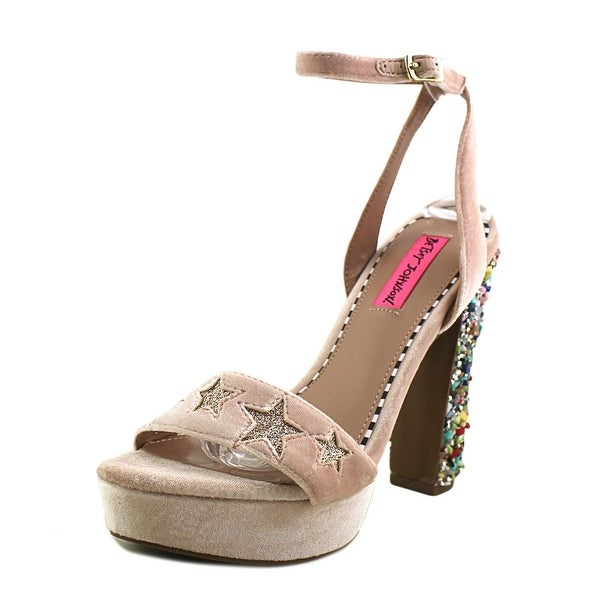 Betsey Johnson Lolas Blush Multi Sandals