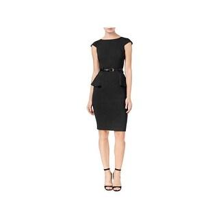 XOXO Womens Juniors Wear to Work Dress Peplum Knee-Length